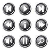 Multimedia Controller Icon Set — Stock Vector
