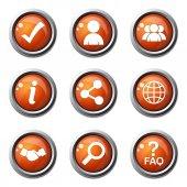 Jeu d'icônes Web internet — Vecteur
