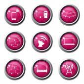 Nastavit ikonu komunikace Telecom — Stock vektor
