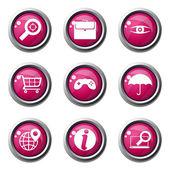 Référencement internet signe jeu d'icônes — Vecteur