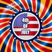 Amerikaanse onafhankelijkheidsdag — Stockvector