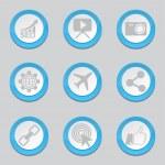 SEO Internet Sign Blue Button Icons — Stock Vector #77647430