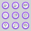 SEO Internet Sign Violet Button Icons — Stock Vector #77834194