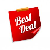 Best Deal Red Sticky Notes — Vector de stock