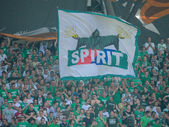 Fans of the SK Rapid — Stock Photo