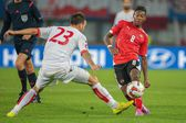 Austria vs. Montenegro — Stock Photo