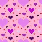 Vivid motley seamless valentine  pattern   — Stock Photo