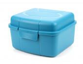 Blauwe doos op een witte achtergrond... — Stockfoto