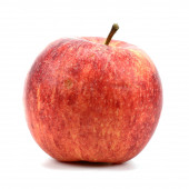 Fresh red apple on a white background — Stock Photo