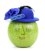 Apple with  Hat — Stock Photo