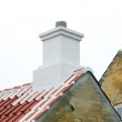 Chimney on the roof — Stock Photo #56052425