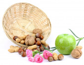 Still nuts apple flowers — Foto Stock
