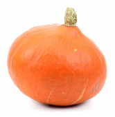 Pumpkin over white background — Stock Photo