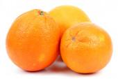 Frutta arance isolato su bianco. — Foto Stock