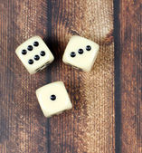 Game  on wooden background — Foto de Stock
