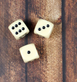 Game  on wooden background — Stock Photo