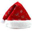 Single Santa Claus red hat isolated on white background — Stock Photo #60902281