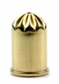 Closeup of a Bullet Isolated on a White Background — Stock Photo