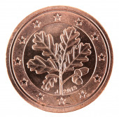 Euro cents coin back side. — Stock Photo