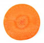 Rebanada de zanahoria aislado en blanco — Foto de Stock