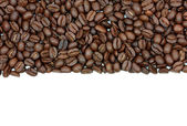 Roasted coffee beans, can be used as a background. — Stock Photo