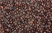 Roasted coffee beans, can be used as a background — Stock Photo