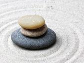 Japanese zen garden meditation stone — Foto Stock