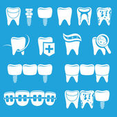Vector set of dentist icons — Stock Vector