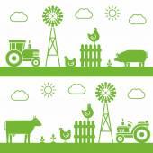Farm — Stock Vector