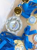 Cup och medaljer — Stockfoto