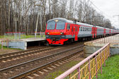 Russian Railways commuter electric train — Stock Photo