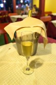 Bottle of champagne and a bucket — Stok fotoğraf