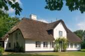 Huis met rieten dak — Stockfoto