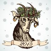 Symbolic image of a goat — Stock Vector