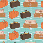Pattern with luggage — Stock Vector
