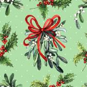 Watercolor Christmas pattern — Stock Photo