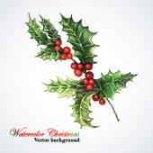 Christmas sprig of mistletoe. — Stock Vector