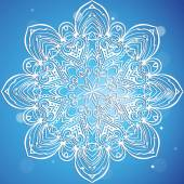 Openwork ornament Snowflake. — Stock Vector