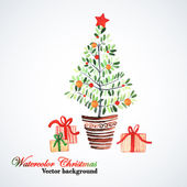 Kerstboom. — Stockvector