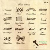 Collection of Italian pasta — Stock Vector