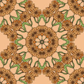 Pattern with flowers of calendula — Stock Vector