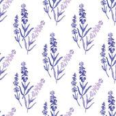 Watercolor lavender pattern — Stock Vector