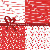 Hand drawing patterns with hearts — Stock Vector