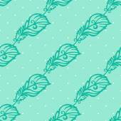 Hand-drawing pattern with feathers — Vecteur