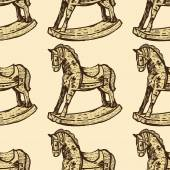 Vintage pattern with  horses — Stock Vector