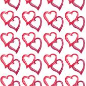 Doodle seamless of hearts — Stock Vector