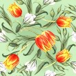 Spring floral tulips pattern — Stock Photo #65182215