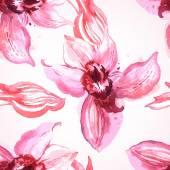 Padrão com orquídeas cor de rosa — Vetor de Stock