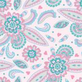 Doodle floral seamless background — Stock vektor