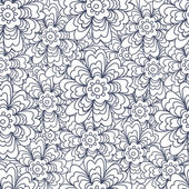 Vintage floral seamless with doodle flowers — Stockvector